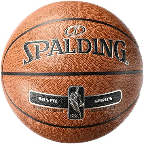 Spalding NBA Silver Basketball Ball, orange, 6
