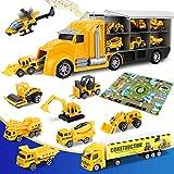 lenbest 12 en 1 Camion de Construction Ensembles, Véhicules de Chantier...