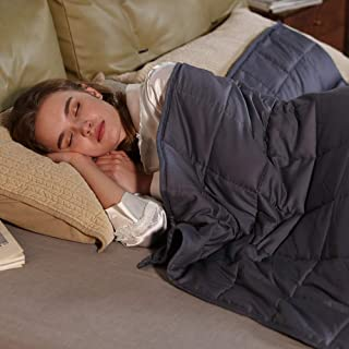 ZonLi Cooling Weighted Blanket 15 lbs(60''x80'', Queen Size, Grey),..