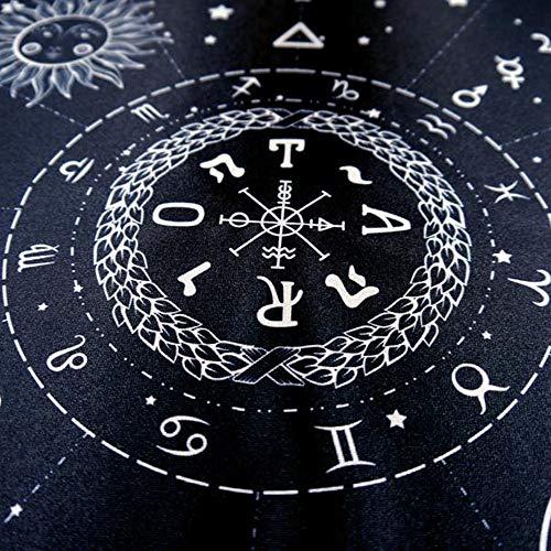 LAIZETONGXUN Altar Tarot Paño con Diagrama de Matriz, Adivinación Altar Tarot Especial Mantel Juego Mantel