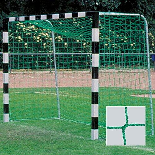 DONET Handballtornetz/Kleinfeld 3,1 x 2,1 m Tiefe Oben 0,80 / unten 1,00 m, PP 3 mm ø, grün