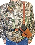 WESTERN IMAGES LEATHERWORKS, INC. Sportsman's Chest Rig Holster for Ruger Revolvers Brown Leather (Redhawk 7.50 inch Barrel, Right Handed)