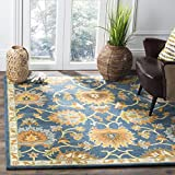 Safavieh Heritage Collection Handcrafted Traditional Navy Premium Wool Area Rug (8' x 10')