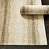 Wallard Design Antelope Animal Traditional Persian Handmade 100% Wool Rugs & Carpets (5'x8')
