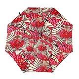 Paraguas de papel de aceite plegable automático triple pliegue paraguas transparente