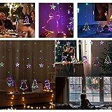 Lumiereholic Lumière de Rideau 138LED Cordes Guirlande Etoilée string light décoration de Fenêtre Noël Anniversaire Patio mariage jardin fête Chambre...