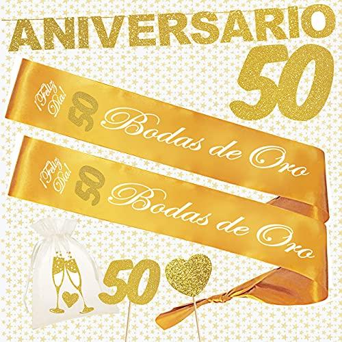 Inedit Festa 50 Bodas de Oro 2 Bandas Bodas de Oro 50 Aniversario Bodas Doradas