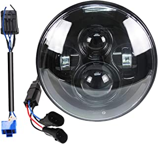Belt&Road 7 Inch Round Super White LED Headlight for HD Street Glide Fits 2014-2020..