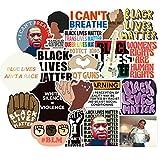 FENGLING Pegatinas de Black Lives Matter para papelería, Maleta para Ordenador portátil, monopatín, Motocicleta, Guitarra, Pegatina Impermeable, 50 Uds.