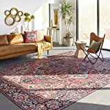 Artistic Weavers Area Rug, 5' x 7'6', Bright Red/Wheat