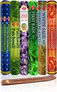 Six Most Popular Hem Incense Scents of All Time, 120 Sticks Total, with Free Burner..