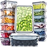 Fullstar (14 Pack) Food Storage Containers with Lids - Plastic Food Containers with Lids - Plastic Containers with Lids BPA-Free - Leftover Food Containers - Airtight Leak Proof Food Container