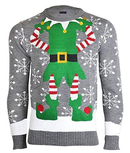 NOROZE - Suéter navideño, de punto de alta calidad, para hombre