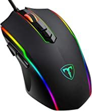 PICTEK Gaming Mouse Wired, RGB Chroma Backlit Gaming Mouse, 8 Programmable Buttons, 7200..