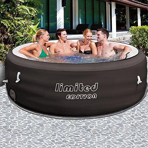 Bestway Limited Whirlpool aufblasbar für 6 Personen   Ø 196cm   bis 40° Heizung   Thermo-Abdeckung & Filterpumpe   beheizter Pool Outdoor Lay-Z-Spa Wellness