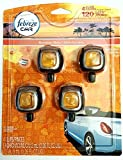 Febreze Hawaiian Aloha Car Vent Clip Air Freshener, 0.06 oz, 4 Pack