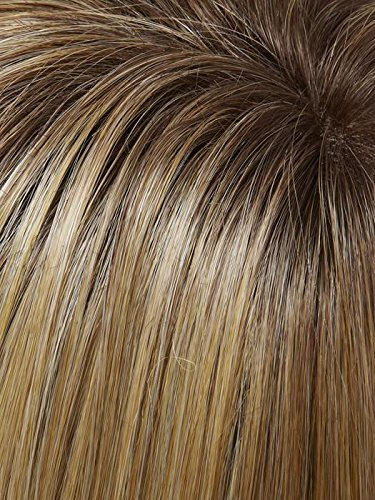 Easipart 8 Inch (Exclusive) Monofilament Remy Human Hair Toppers by Jon Renau in 24B/27CS10, Length: Short 4