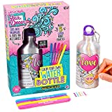 Just My Style Your Decor Color Your Own Water Bottle By Horizon Group Usa, DIY Bottle Coloring Craft Kit, BPA Free Aluminum 18.9fl oz Drinking Water Bottle, Decorate Using Colorful Markers & Gemstones (Toy)
