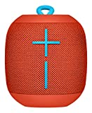 Ultimate Ears Wonderboom Tragbarer Bluetooth-Lautsprecher, Überraschend Starker Sound, Wasserdicht, Verbinde 2 Lautsprecher für Lautstarken Hi-Fi Sound, 10-Stunden Akkulaufzeit - fireball red/rot