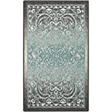 Maples Rugs Pelham Vintage Kitchen Rugs Non Skid Accent Area Carpet [Made in USA], 1'8 x 2'10, Grey/Blue