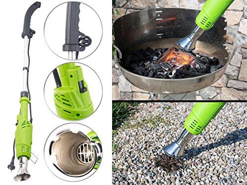 Royal Gardineer Thermo Unkrautvernichter: Elektrischer 3in1-Unkrautvernichter, 2 Hitzestufen bis 600 °C, 2.000 W (Elektrische Unkraut Vernichter)