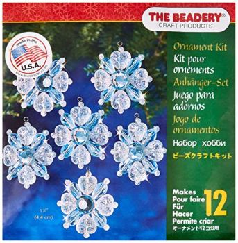 Beadery Perles en Plastique Vacances Décoration en Forme de Flocons de Neige en Filigrane Truelle Rend 12