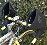 Bar Mitts Cold Weather Road Bicycle Handlebar Mittens fits Shimano Shifters with Externally Routed Shift Cables, Black, Large