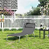 Sonnenliege, Liegestuhl, Gartenliege, extra groß,bis mit Kopfstütze und Sonnendach - 3