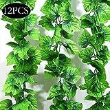 SPECOOL Feuilles Garland Artificielle Plantes, 10 Packs Plantes Suspendues Artificielles Faux Vignes Soie...
