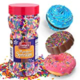 Lieber's Rainbow Sprinkles | Tasty Colorful Jimmies Are A Great Dessert Topping For Cooking, Baking & Decorating Ice Cream | 11 Ounces