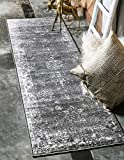Unique Loom Sofia Traditional Area Rug, 2' 0 x 6' 7, Dark Gray