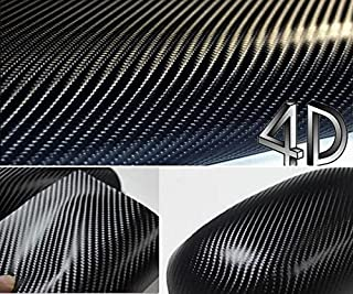 DIYAH 4D Black Carbon Fiber Vinyl Wrap Sticker with Air Realease Bubble Free Anti-Wrinkle..