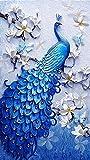 TOCARE DIY 5D Large Diamond Painting Kits for Adults 45x75CM/18x30 Inch Full Diamond Lucky Bird Peacock Animal Embroidery Dotz Diamond Art Craft Home Wall Art Decor Present for Family