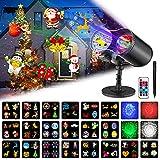 Lampe Projecteur LED de Noël, Projecteur Lumière avec Télécommande,...