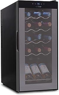 15 Bottle Wine Cooler Refrigerator – White & Red Wine Fridge Chiller Countertop..