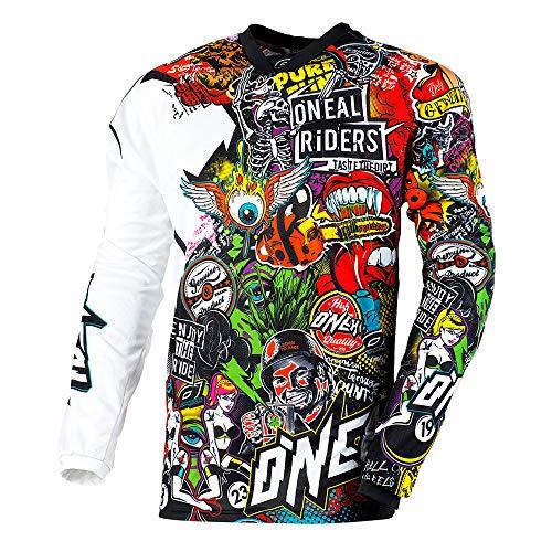 O\'NEAL   Mayhem Crank   MX Jersey Trikot   Motocross Shirt   Schwarz/Multi 2020   Größe: L (52/54)