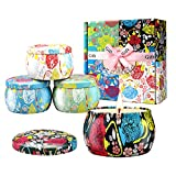 Large Size Scented Candles Gifts Sets for Women 4.4oz Travel Tin Candle, Gardenia, Jasmine and...
