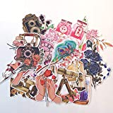 SZYND Pegatinas de Objetos Antiguos de Flores Vintage DIY álbum de Recortes Diario Basura planificador Feliz Pegatinas Decorativas 22 Piezas