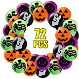 Sizonjoy Pack of 72 Assorted Bouncy Balls for Halloween Party Favors,Halloween Bouncing Toys-Perfect Trick or Treat Bags for Kids