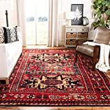 Safavieh Vintage Hamadan Collection VTH213A Antiqued Red and Multi Area Rug (4' x 6')