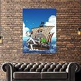 FHGFB DIY「Anime Luffy」Pintura por números para Adultos Pintura al óleo Lienzo Pared Hogar Sala de Estar Dormitorio Decoración de Oficina Regalo Sin Marco 40x50cm