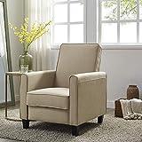 Naomi Home Landon Push Back Recliner Upholstered Club Chair Mocha/Linen
