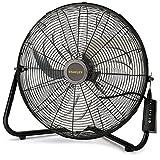 Lasko Stanley Max Performance High Velocity Floor Fan, 1-Pack, 655650,Black 655650