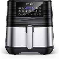 Innsky 5,5L 1700W freidora sin Aceite con 7 programas + función de Inicio diferido, Panel LED, Temperatura y tiempo ajustable. Freidora Aire caliente con libro de Recetas Sin BPA ni PFOA, Regalo ideal