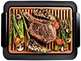 Gotham Steel Smokeless Grill Indoor Grill Ultra Nonstick Electric Grill – Dishwasher Safe Surface,...