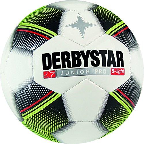 Derbystar Junior S-Light voor kinderen   Voor kinderen van 5-11 jaar   Gewicht: 290-319 gram   100% polyurethaan   Double-Lock ventiel   Wit/Zwart/Geel/Rood