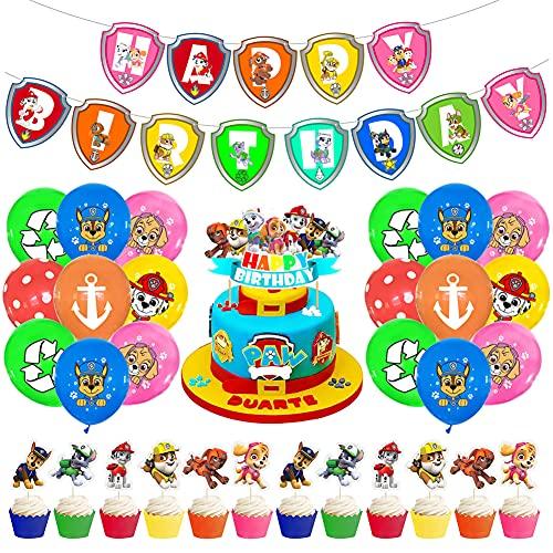Babioms Decoración Cumpleaños Patrulla, Látex de la Patru