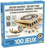 France Cartes- Coffret 100 Bois-Les Grands Classiques Famille, Enfants Dames, Petits Chevaux, l'Oie, Marelle, dés et Jeu de Cartes, 527600