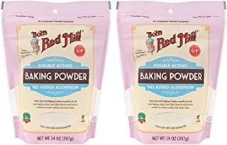 Bob's Red Mill Baking Powder 14 oz (2 Pack) - Double Acting Baking Powder - No Added Aluminum - Baking Powder Double Pack...
