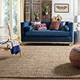Safavieh Natural Fiber Collection NF447A Hand-woven Chunky Textured Jute Area Rug, 6' x 9'